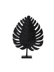 Light & Living Ornament Leaf 2 zwart