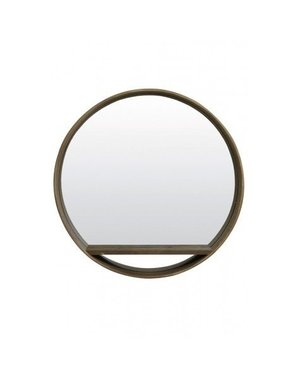 Light & Living Spiegel Ø70 Viria hout