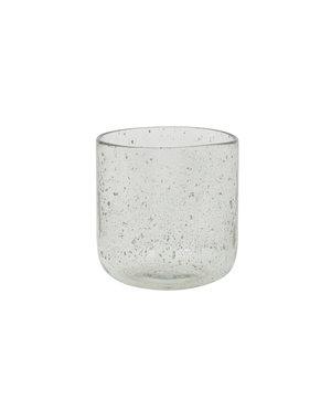 Light & Living Vaas Ø16x16,5 cm PARLI glas steenslag helder