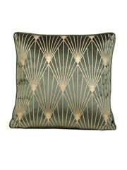 Light & Living Kussen 45x45 cm JANISE velvet groen-goud
