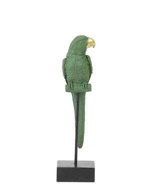 Light & Living Ornament op voet 8x8x31 cm PARROT donker groen+goud