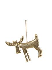 Light & Living Ornament hang 11x8x0,5 cm DEER antiek brons