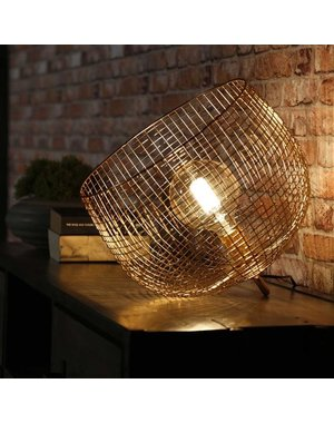 Tafellamp Ø33 basket wire - Goudkleurig