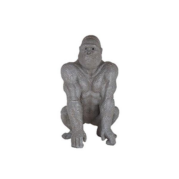 Richmond Interiors  Decoratief beeld Gorilla zilver