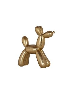 Richmond Interiors Decoratief beeld hond goudkleurig