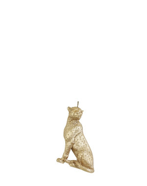 Light & Living Ornament hang 9 cm Cheetah mat goud