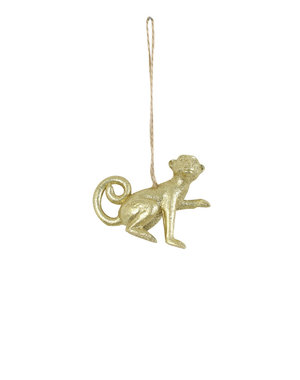 Light & Living Ornament hang 7x6,5x3 cm Aap goud