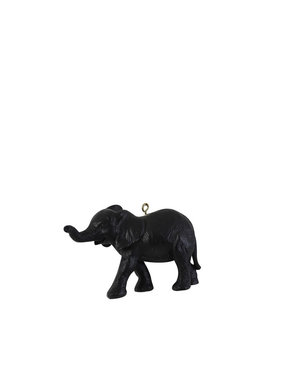 Light & Living Ornament hang 9 cm Olifant mat zwart