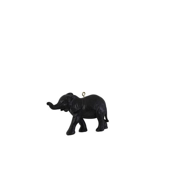Light & Living Ornament hang 9 cm Olifant mat zwart