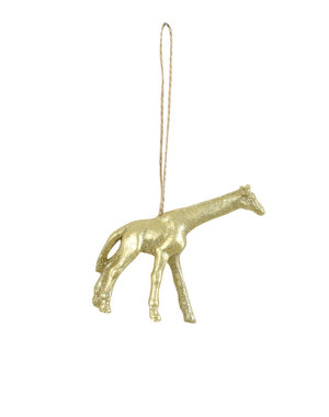 Light & Living Ornament hang 9,5x2,5x9 cm Giraf goud