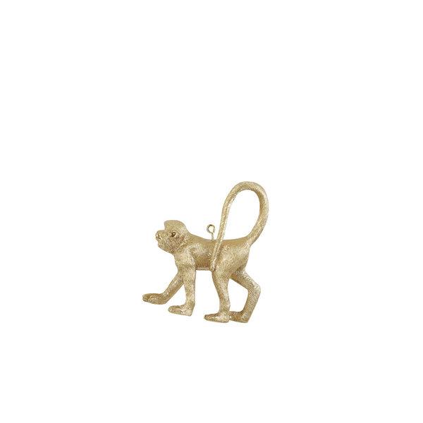Light & Living Ornament hang 9 cm Aap mat goud