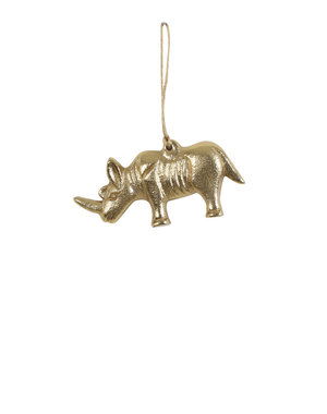 Light & Living Ornament hang 11,5x3x12,5 cm RHINO goud