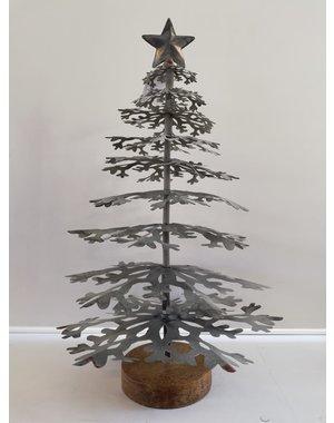 Light & Living Ornament Ø28x46 cm CHRISTMAS TREE grey