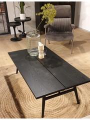 Eleonora Salontafel eiken zwart 130 x 70 cm