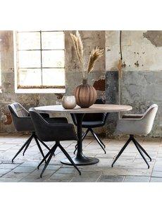 Light & Living Eettafel rond Ø 120 of Ø 140 cm BIBOCA acacia Grijs-zwart
