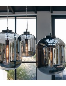 Light & Living Hanglamp JULIA Glas Smoke