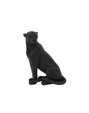 Light & Living Ornament CHEETAH velvet Bruin of zwart in 3 maten
