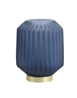 Light & Living Tafellamp LED IVOT Glas mat blauw