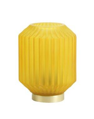 Light & Living Tafellamp LED IVOT Glas mat ginger