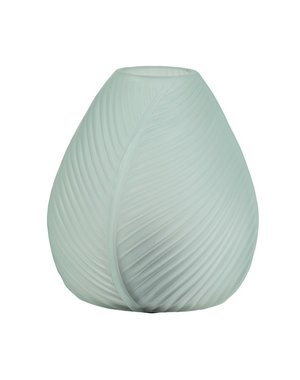 Light & Living Tafellamp LED LEAF Glas Lichtblauw matglas