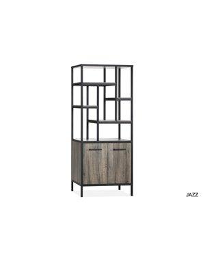 Maxfurn Wandkast Jazz Claywood 2 deurs/7 vakken