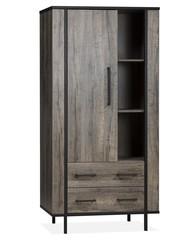 Maxfurn Opbergkast Jazz Claywood 1 deur / 2 lades en 3 open vakken