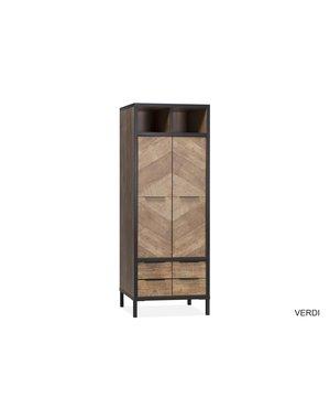Maxfurn Broodkast Verdi Old Teak 2 deurs/2 lades/2 open vakken
