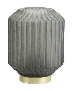 Light & Living Tafellamp LED Ø13x17 cm IVOT glas mat olijf groen