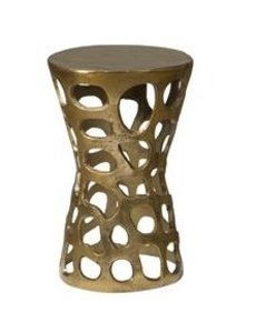 Tower Living Bijzettafel aluminium Brass Antique Holes