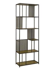 Tower Living Boekenkast Tom Antique brass showroommodel