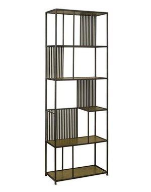 Tower Living Boekenkast Tom Antique brass