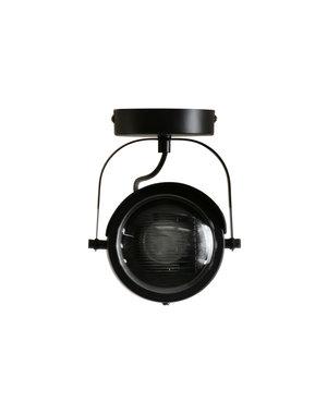 Woood Lester plafondlamp metaal zwart 1 lamp