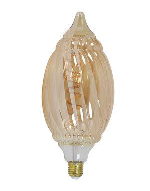 Light & Living Deco LED globe Ø12x28 cm BAROQUE 4W amber E27 dimbaar