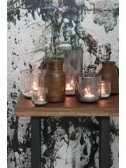 Light & Living Vaas Parli Ø 10 cm steenslag helder