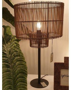 Light & Living Lampenkap RODGER bamboo Bruin - 2 maten