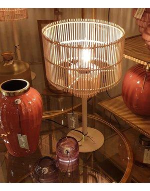 Light & Living Lampenkap RODGER Bamboo Oud roze - 2 maten