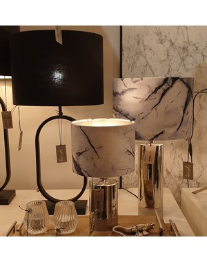 Light & Living Lampenkap Marmer Grijs