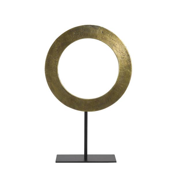Light & Living Ornament op voet Ø35x56 cm WAIWO ruw antiek brons-mat zwart