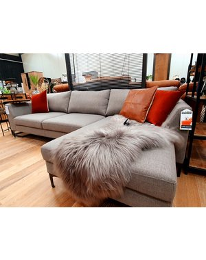 Maxfurn Showroommodel * Loungebank Macy grijs rechts