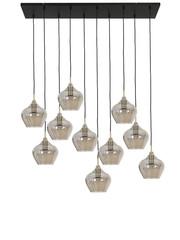 Light & Living Hanglamp Rakel 10L glas