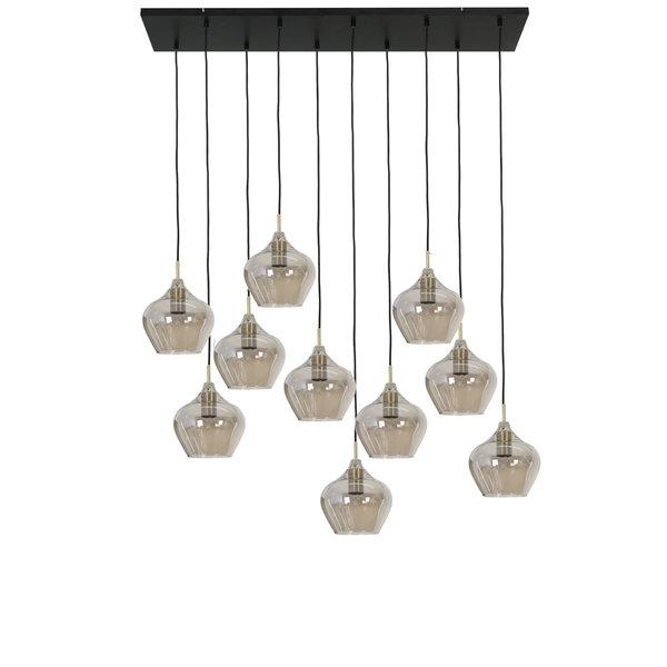 Light & Living Hanglamp 10L glas