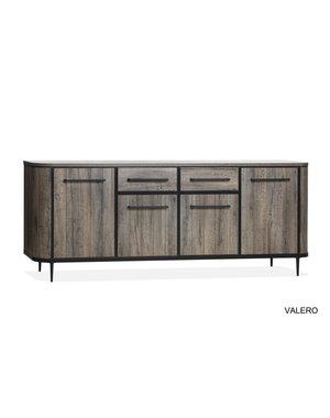 Valero dressoir claywood 4 deurs/2 laden