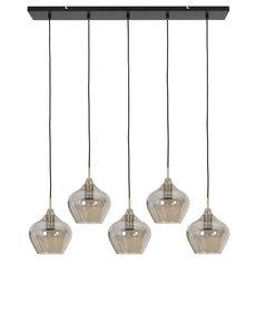 Light & Living Hanglamp Rakel 5L glas