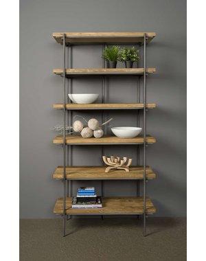 Tower Living Boekenkast Pesaro Teak 6 planken