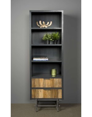 Tower Living Boekenkast Pesaro Teak 2 lades