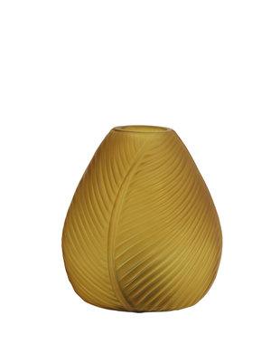 Light & Living Tafellamp LED LEAF Glas Oker geel mat