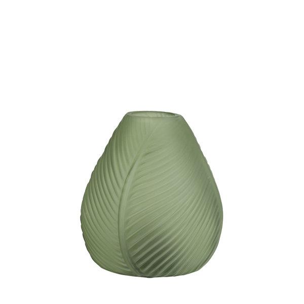 Light & Living Tafellamp LED LEAF Glas groen mat