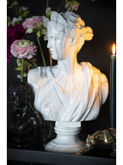 By Boo Ornament Ceres marmer - Zwart of wit
