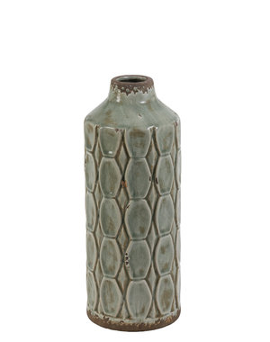 Light & Living Vaas Deco Baluran grijs groen  S