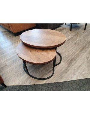Maxfurn Set van 2 salontafels Rutger groot - Old Teak